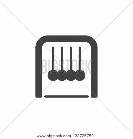 Newton Cradle Vector Icon. Filled Flat Sign For Mobile Concept And Web Design. Simple Solid Icon. Ph