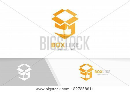 Vector Box And Like Logo Combination. Package And Best Symbol Or Icon. Unique Delivery And Choice Lo