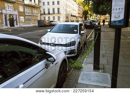 London, England - October 25, 2017: Zipcar Hub Near Hyde Park. Zipcar Is A Cheap Car Sharing Service