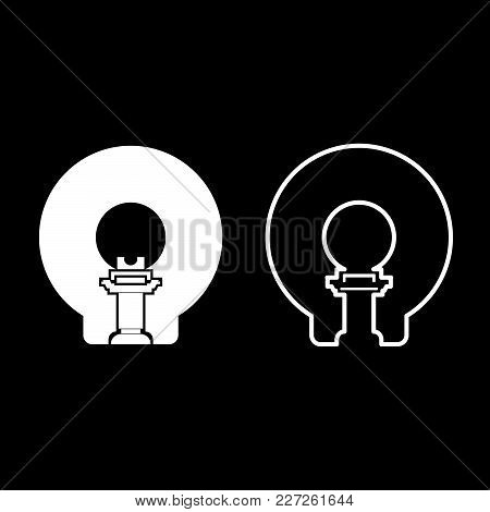 Mole For Garden Craft Icon Set White Color Vector Illustration Flat Style Simple Image
