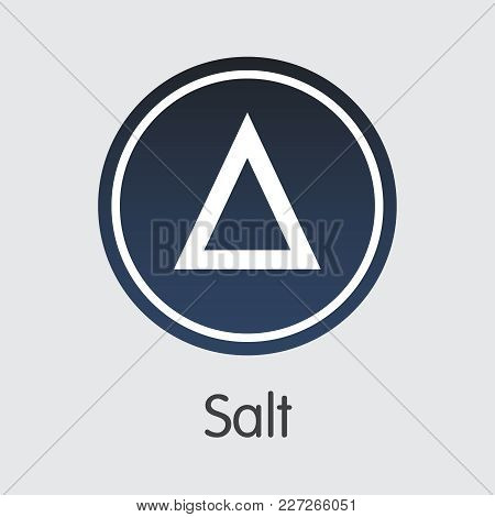 Salt Vector Illustration For Internet Money. Virtual Currency Element Of Salt And Icon For Using In