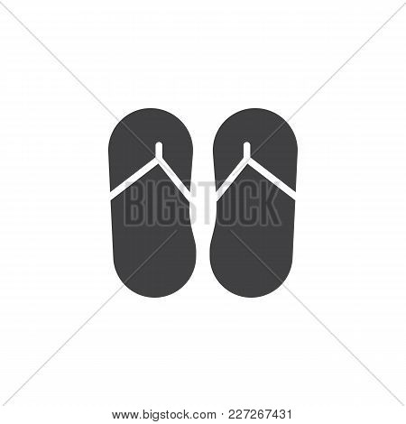 Flip Flops Vector Icon. Filled Flat Sign For Mobile Concept And Web Design. Summer Slippers Foot Wea