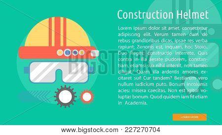 Construction Helmet Conceptual Banner | Set Of Great Banner Design Illustration Concepts For Buildin