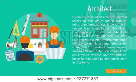 Architect Conceptual Banner | Set Of Great Banner Design Illustration Concepts For Building, Archite