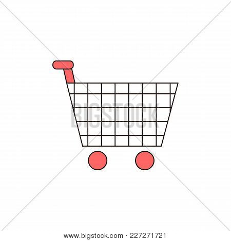 Shopping Cart Vector Outline Icon Illustration Graphic Design