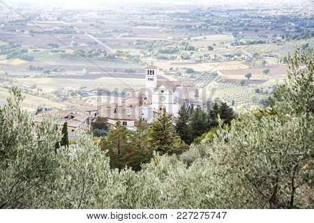 Basilica Of Saint Francis In Assisi In Italy