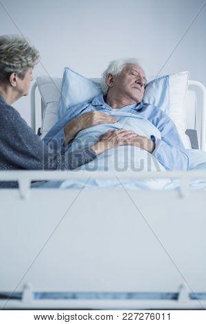 Weak Senior Man And Wife