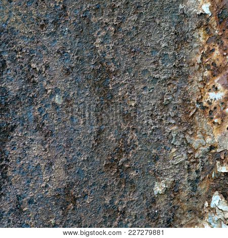 The Dark Worn Rusty Metal Texture Background