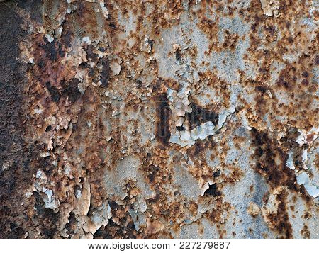 Rusty Metal Texture Background For Interior Design Business, Exterior Decoration And Industrial Cons