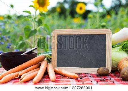 Organic Vegetables On A Table
