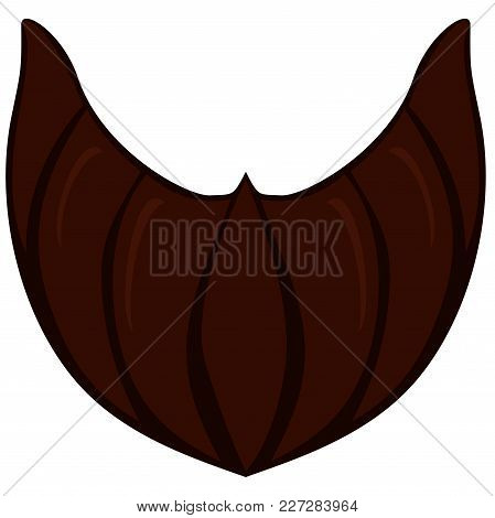 Cartoon Icon Poster Beard, Beaver, Bearded Man Father Dad Day. Man Fashion Holiday Bright Colorful V