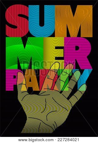 Summer Party Typographic Poster Design. Vector Illustration.