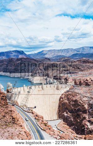 Famous Hoover Dam. Nevada, USA