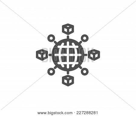 Logistics Network Simple Icon. Parcel Tracking Sign. Goods Distribution Symbol. Quality Design Eleme