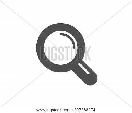 Research Simple Icon. Magnifying Glass Symbol. Magnifier Sign. Quality Design Elements. Classic Styl