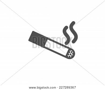 Smoking Area Simple Icon. Cigarette Sign. Smokers Zone Symbol. Quality Design Elements. Classic Styl