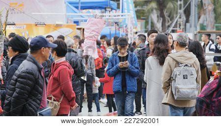 Victoria Park, Hong Kong 14 February 2018:- Hong Kong Lunar new year fair