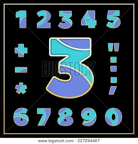 Colorful Stylized Abc Mosaic Font With Numbers And Punctuation Marks. Part 4 Of 5. Enamel Jewelry Ar