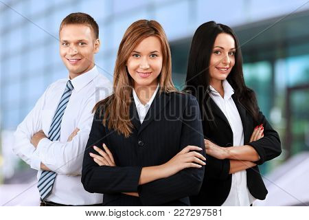 Business People Hands Crossed White Background Isolated