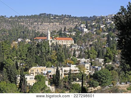 Saint John The Baptist Church And Other Buildings In Ein Kerem, Israel