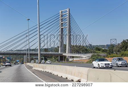 Johannesburg, Gauteng, South Africa, 20018/01/10. Reconstruction Of Bridges In Johannesburg. Major R