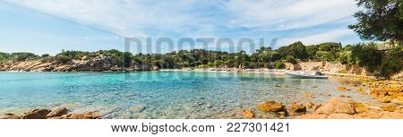Panoramic View Of A Small Cove In Sardinia, Italy