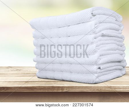 Fluffy Towels Group Objects Background Heap Clothing