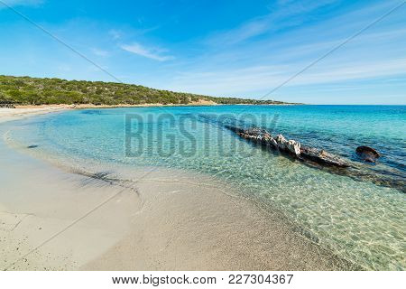 Blue Sky Over Andreani Cove In Caprera, Sardinia