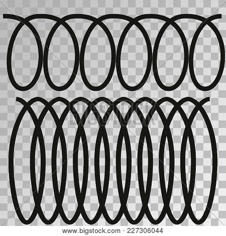 Metal Spiral Flexible Wire Elastic. Spiral Vector Icon.metal Spiral Flexible Icon.