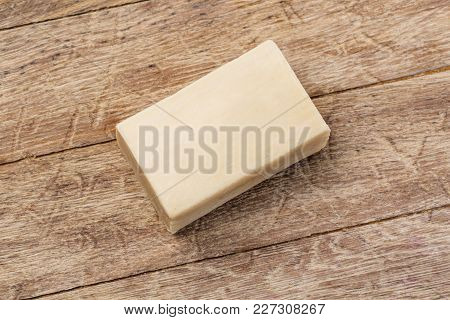 The Soap Bar On The Wooden Background