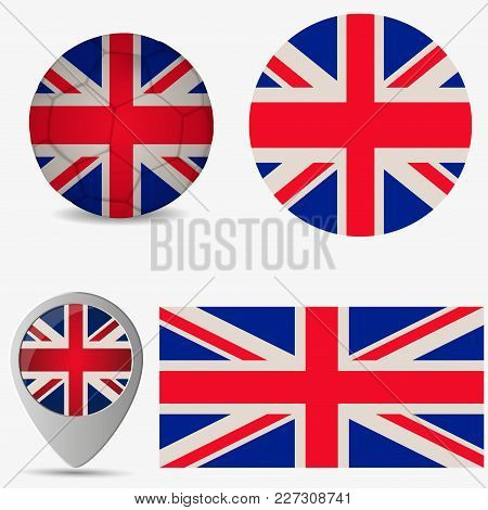 Uk Of Great Britain Flag, Official Colors And Proportion Correctly. National Uk Of Great Britain Fla