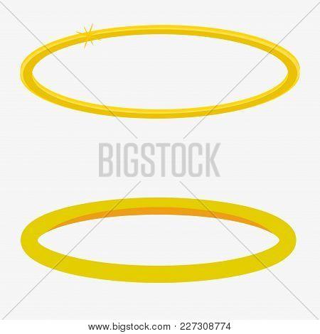 Gold Halo Angel Ring. Halo Angel Ring Set. Angel Ring