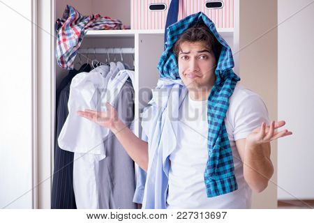 Man helpless with dirty clothing after separating from wife poster
