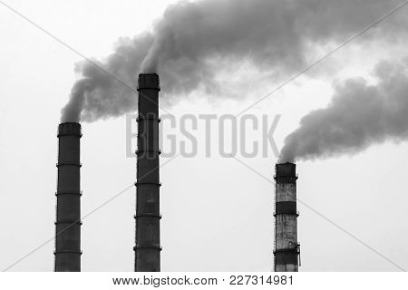 Factory Pipes Smoke