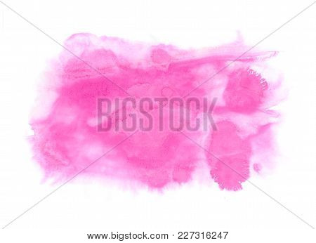 Abstract Texture Brush Ink Background Red Pink Aquarell Watercolor Splash Hand Paint On White Backgr