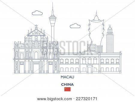 Macau Linear City Skyline, China. Famous Places