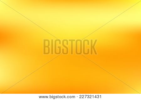 Vector Yellow Gold Blurred Gradient Style Background. Abstract Smooth Colorful Illustration, Social
