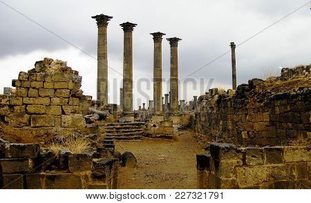 Panorama Of Ruined Old City Of Bosra, Syria