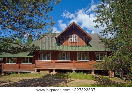A Big Village Wooden House  In A Rural Area In The Forest