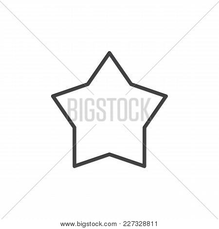 Star Outline Icon. Linear Style Sign For Mobile Concept And Web Design. Favorite Simple Line Vector