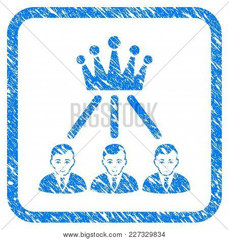 Hierarchy Men Rubber Seal Stamp Imitation. Icon Vector Symbol With Grunge Design And Dust Texture In