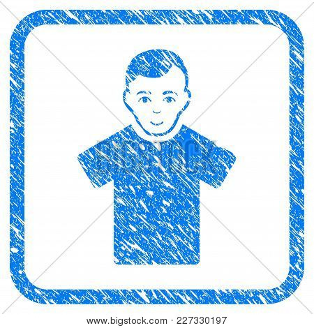 Guy Rubber Seal Stamp Imitation. Icon Vector Symbol With Grunge Design And Corrosion Texture In Roun