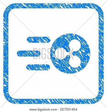 Fast Send Ripple Rubber Seal Stamp Watermark. Icon Vector Symbol With Grunge Design And Dust Texture