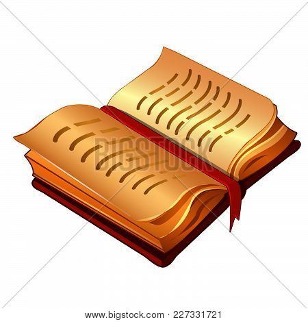 Open Book With Bookmark. Vector Graphic Illustration.