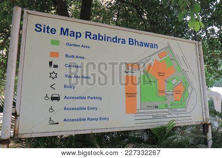 New Delhi India - October 28, 2017: National Academy Of Art Site Map. National Academy Of Art  Was E