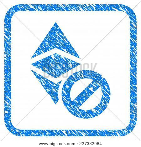 Forbidden Ethereum Classic Rubber Seal Stamp Watermark. Icon Vector Symbol With Grunge Design And Un