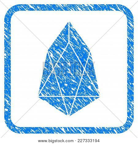 Eos Currency Rubber Seal Stamp Watermark. Icon Vector Symbol With Grunge Design And Dirty Texture In