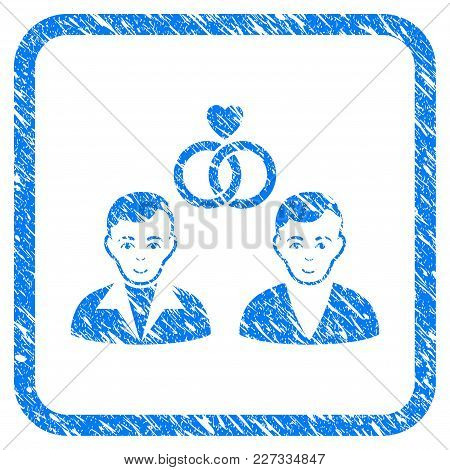Gays Marriage Rubber Seal Stamp Imitation. Icon Vector Symbol With Grunge Design And Dirty Texture I