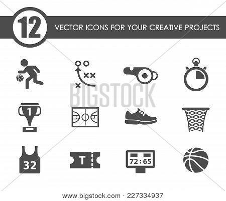 Basketball Vector Icons For Your Creative Ideas