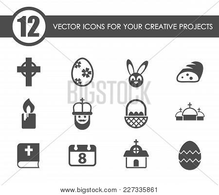 Easter Vector Icons For Your Creative Ideas
